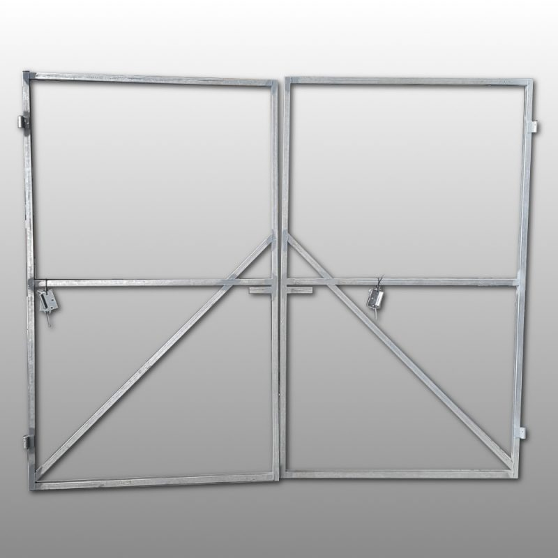 Dbl Steel Gate Frame 2100 x 3300 – Lifetime Pine
