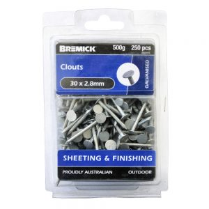 Clouts 30 x 2.8mm 500g/250 Pack