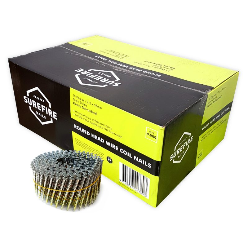 Galv Fencing Coil Nail 57 x 2.5 9000