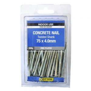 Concrete Nail Twisted Shank 75 x 4.0mm 500g Pack