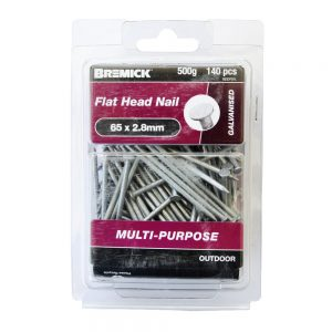 Galvanised Flat Head Nail 65 x 2.8mm 500g/140 Pack