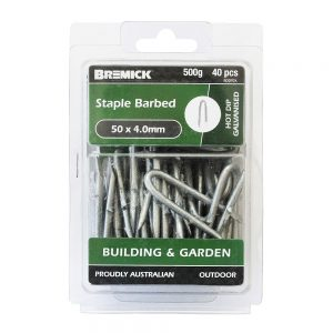 Staples Barbed 50 x 4.0mm 500g/40 Pack