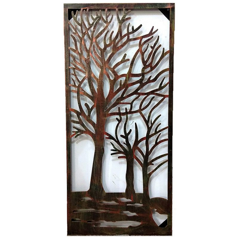 Steel Wall Art Riverside 1000 x 450 x 11