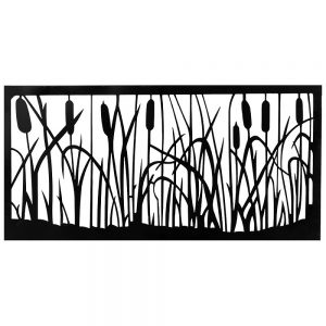 Decorative Steel Screens Catttail Black 1160 x 560