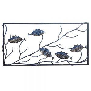 Steel Screens Fish Wall Art 1000 x 500 x 10