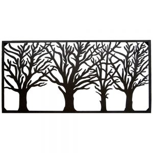 Decorative Steel Screens Avenue Black 1160 x 560