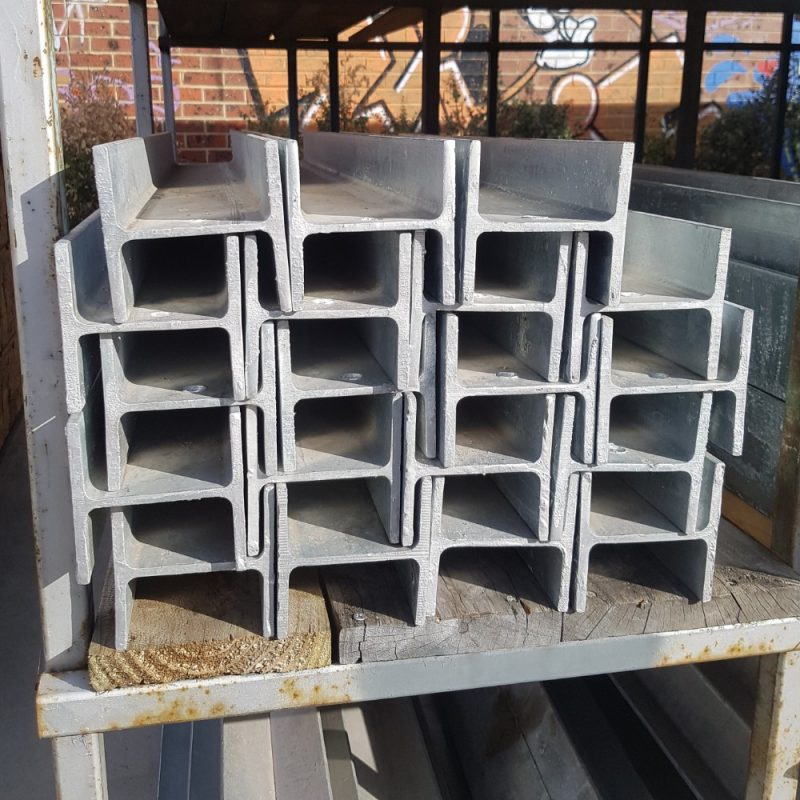 Steel 100UC Galv H Sleeper Column