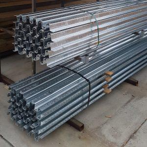 W Profile Galvanised Steel Post 1.8m