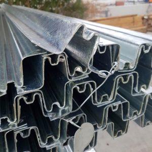 W Profile Galvanised Steel Post 2.7m