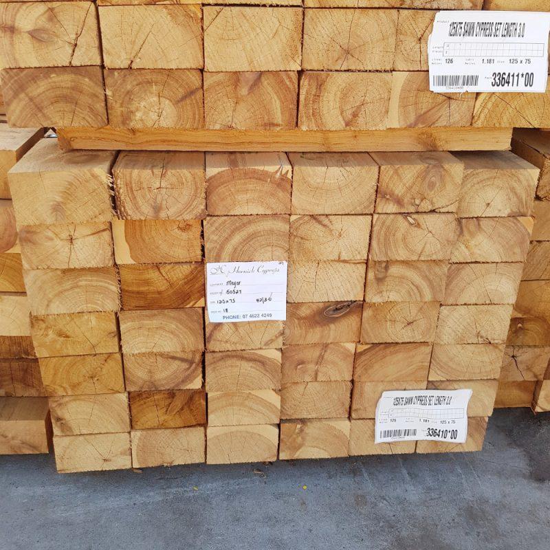 Cypress Sawn 125 x 75 x 3