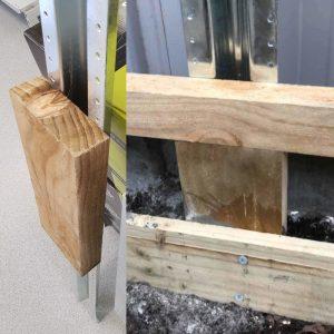 Plinth Block for Steel W post 300mm
