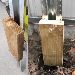 Plinth Block for Steel W post 500mm