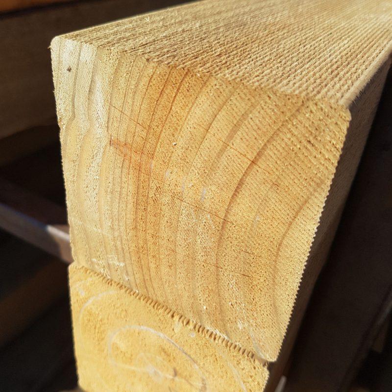 Treated Pine H4 Sawn 100 x 100 x 0.9 Stump