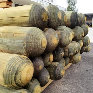 Treated Pine Bollard 125mm